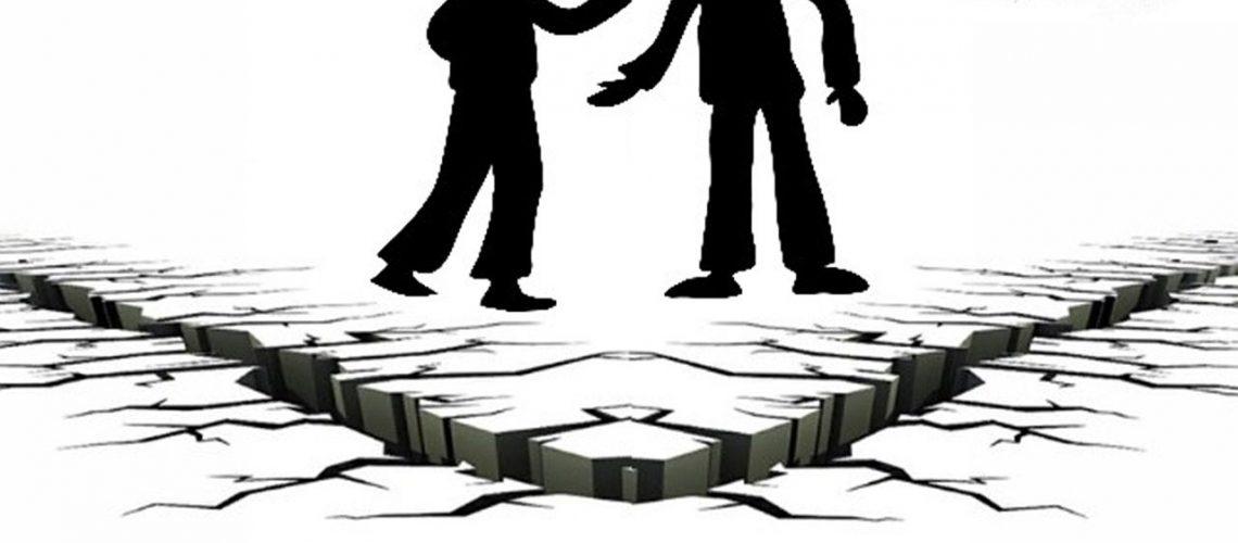 Man and woman quarrel. Secret to good relationships.